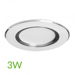 Downlight led Plateado 3W 240Lm Ø98mm