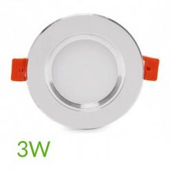 Comprar Downlight led Plateado 3W 240Lm Ø98mm
