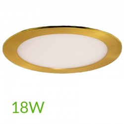 Downlight redondo Dorado 18W Ø225mm 1300Lm