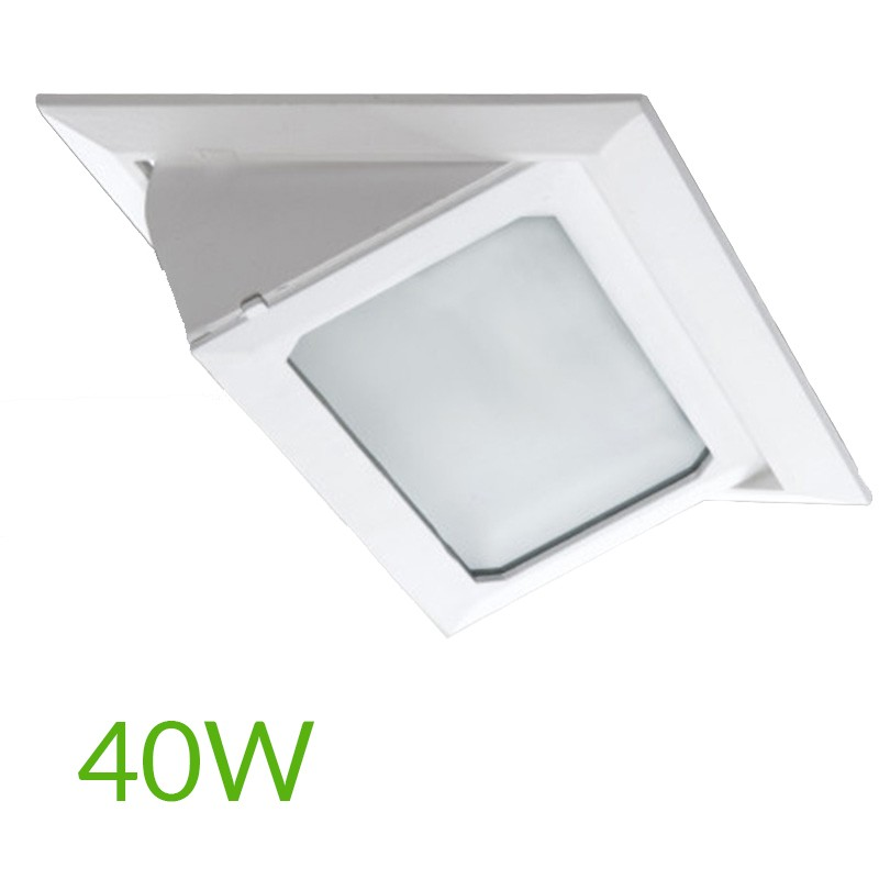 Foco Downlight Led Rectangular 40W 4400Lm