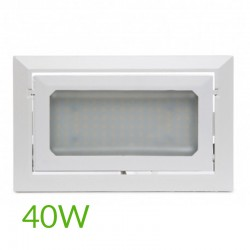 Oferta Foco Downlight Led Rectangular 40W 4400Lm
