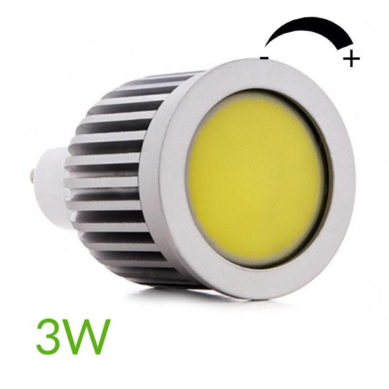 Bombilla led Gu10 COB Regulable 3W 260Lm