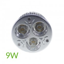 Bombilla led mr16 9W blanco frío 60º