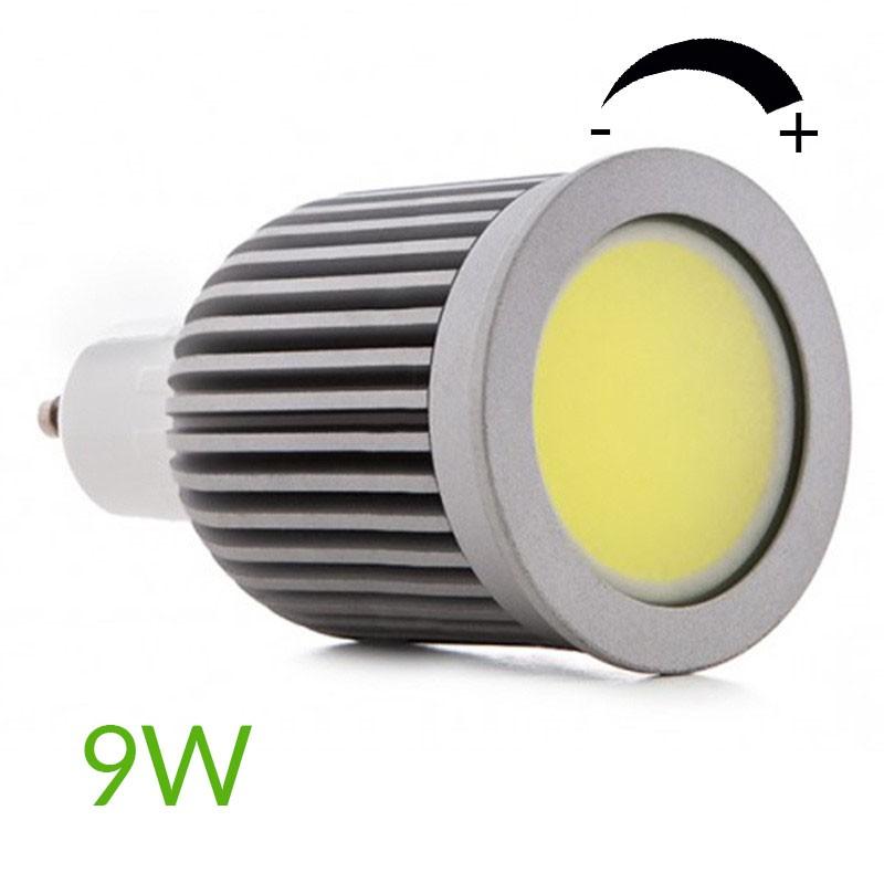 Bombilla led COB Gu10 Regulable 9W 880Lm