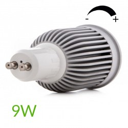 Conector Bombilla led COB Gu10 Regulable 9W 880Lm