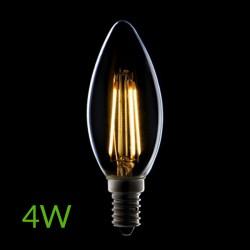 Iluminación Bombilla led E-14 Filamento Vela Regulable 4W 380Lm