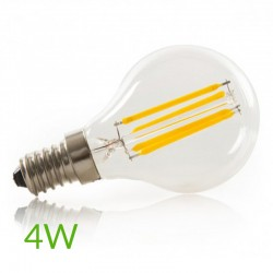 Comprar Bombilla led E-14 filamento G45 4W 400Lm