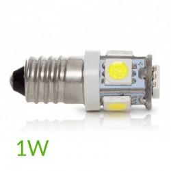 Conector Bombilla led E-10 12VDC 1W 90Lm