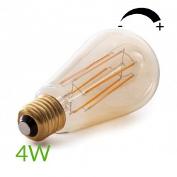 Vender Bombilla led E-27 Filamento St64 Regulable 4W 360Lm