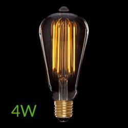 Luz Bombilla led E-27 Filamento St64 Regulable 4W 360Lm