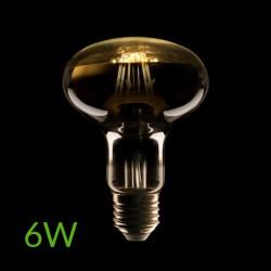 Iluminación Bombilla led E-27 Filamento R80 6W 500Lm