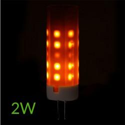 """Luz Bombilla led G4 """"Efecto llama"""" 2W 190Lm"""