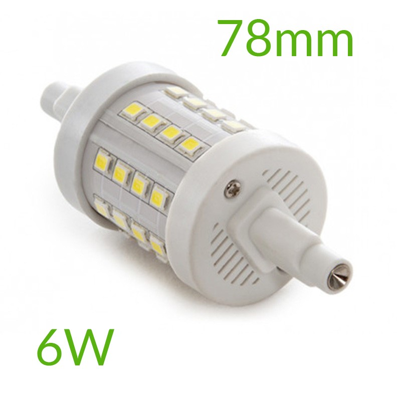Bombilla led R7S 78mm SMD2835 6W 600Lm
