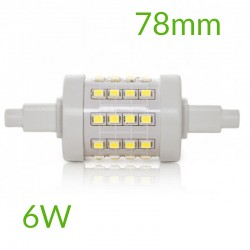 Casquillo Bombilla led R7S 78mm SMD2835 6W 600Lm