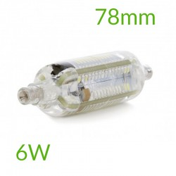 Bombilla led R7S 78mm SMD3014 6W 600Lm