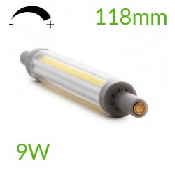 Bombilla led R7S 118mm Regulable COB 9W 900Lm