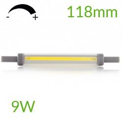 Comprar Bombilla led R7S 118mm Regulable COB 9W 900Lm