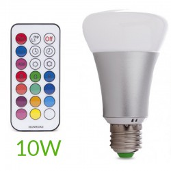 Bombilla led RGB+Blanco Cálido E27 10W
