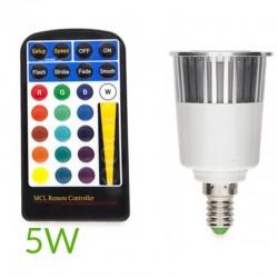 Bombilla led RGB E14 5W