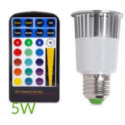 Bombilla led RGB E27 5W