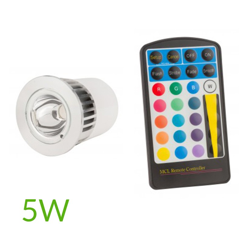 Bombilla led RGB Gu10 5W