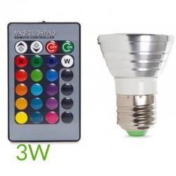 Bombilla led RGB E27 3W