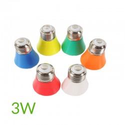 Bombilla led 3W E27 220v colores