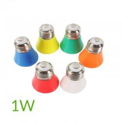 Bombilla led 1W E27 220v colores