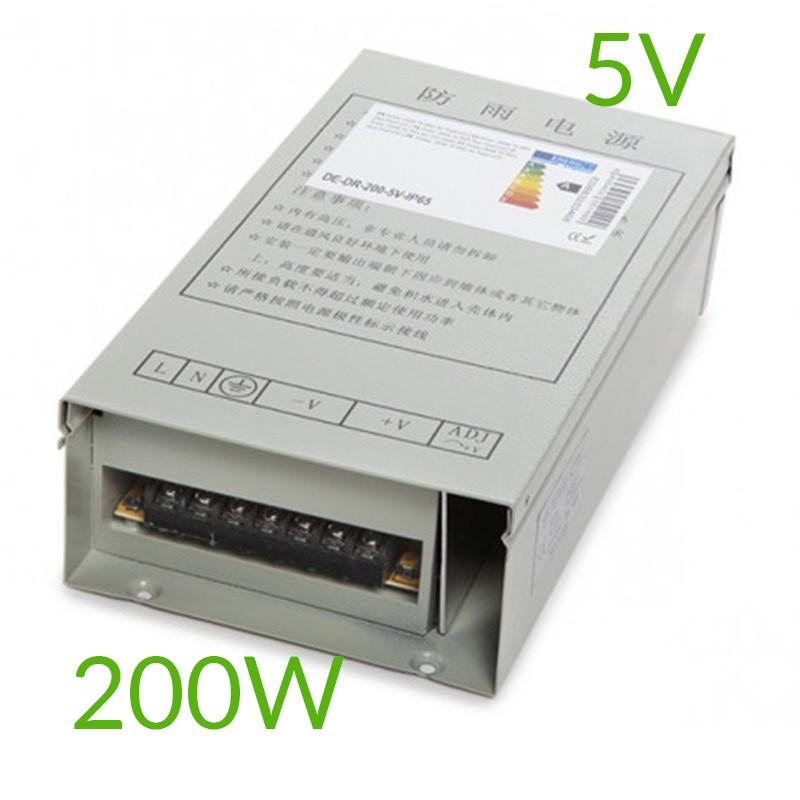 Transformador 5V 200W IP65 Pixel Led