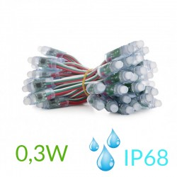 Pixel Led 12mm 0,3W 5V (50unidades) IP68 19031C
