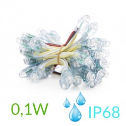 Pixel Led 12mm 0,1W 5V (50unidades) IP68 Amarillo