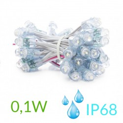 Pixel Led 12mm 0,1W 5V (50unidades) IP68 Blanco