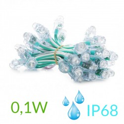 Pixel Led 12mm 0,1W 5V (50unidades) IP68 Verde