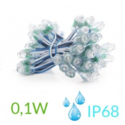 Pixel Led 12mm 0,1W 5V (50unidades) IP68 Azul