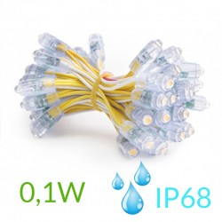Pixel Led 9mm 0,1W 5V (50unidades) IP68 Amarillo