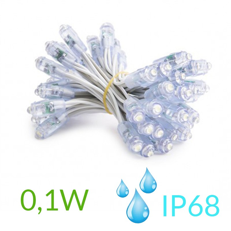 Pixel Led 9mm 0,1W 5V (50unidades) IP68 Blanco