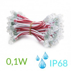 Pixel Led 9mm 0,1W 5V (50unidades) IP68 Rosa