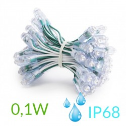 Pixel Led 9mm 0,1W 5V (50unidades) IP68 Verde