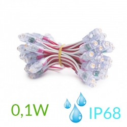 Pixel Led 9mm 0,1W 5V (50unidades) IP68 Púrpura