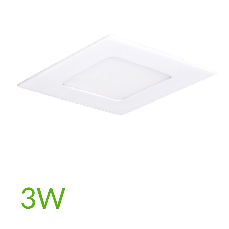 Downlight cuadrado 85mm 3W 230Lm
