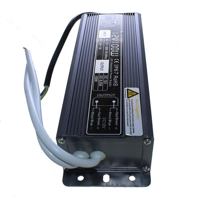 Transformador IP67 exterior 12v 100W