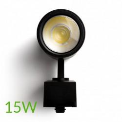 comprar Luminarias de carril monofásico negro 15w 1200lm