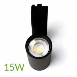 vender Luminarias de carril monofásico negro 15w 1200lm