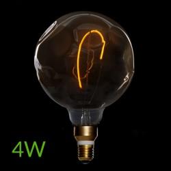Bombilla led e-27 filamento g125 regulable 4w 360lm