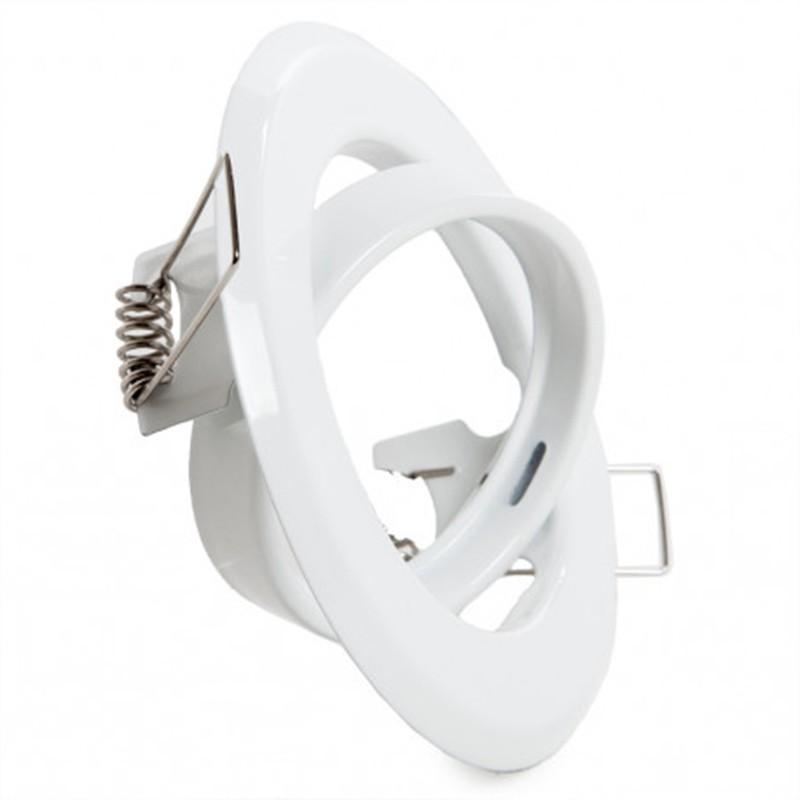 Aro empotrable circular blanco 93mm