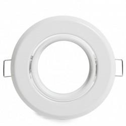 Para bombillas led Aro empotrable circular blanco 93mm