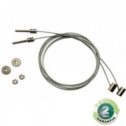 Accesorio cable de acero o hilo para colgar perfiles o paneles
