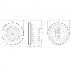 Esquema Bombilla led AR111 COB 12W 1100Lm