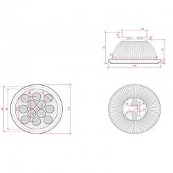 Panel LED 120 x 30 cm RGB