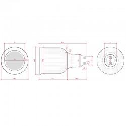 Esquema Bombilla led Gu10 COB Regulable 3W 260Lm
